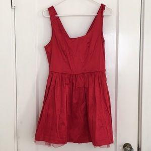 Forever 21 Red Satin Bow Dress